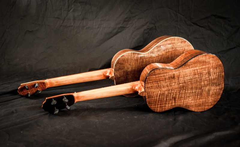 Black Walnut Tenor and Baritone Ukuleles