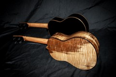 Heart-Stained Myrtle SOLD ~ Ebony Tenor Ukuleles $2500